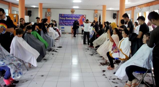 200 WBP Lapas Wanita Bandung Potong Rambut Massal
