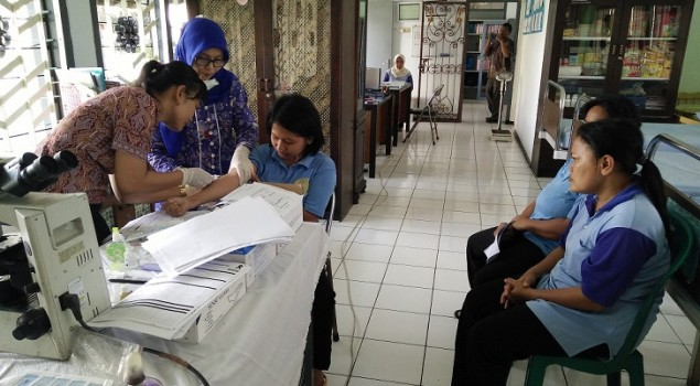 37 Napi/Tahanan Baru Lapas Wanita Malang Di-Skrining IMS