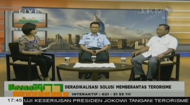 "Deradikalisasi Solusi Memberantas Terorisme"" Beranda Jak TV 19 Januari 2016"