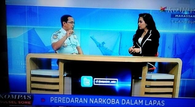 Kalapas Narkotika Sungguminasa Jadi Narasumber Berita Sore Kompas TV