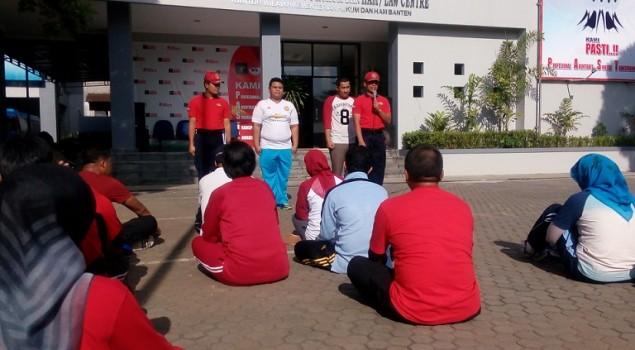 PK Bapas Serang Ikuti Latihan Kesamaptaan Gabungan