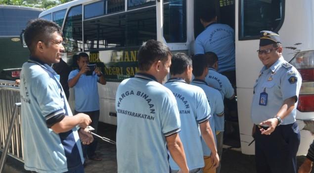 Rutan Samarinda Pindahkan 50 WBP ke Lapas Narkotika Samarinda