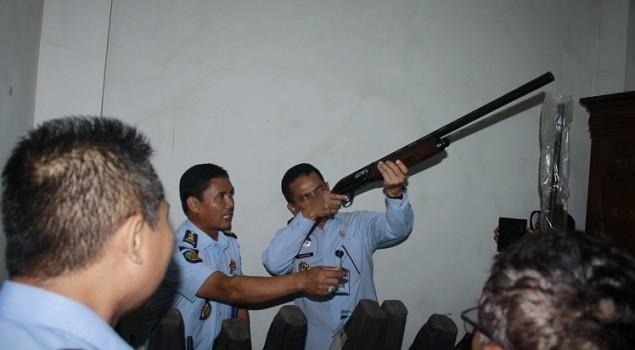 Persenjataan Terawat, Lapas Semarang Dipuji Itjen Kemenkumham