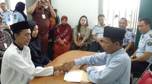 Pelayanan Prima, Rutan Cirebon Fasilitasi Pernikahan