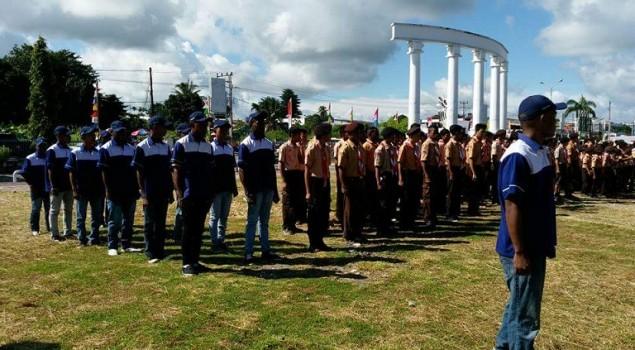 WBP Lapas Nabire Hadiri Apel Besar Peringatan Hari Kepanduan Sedunia