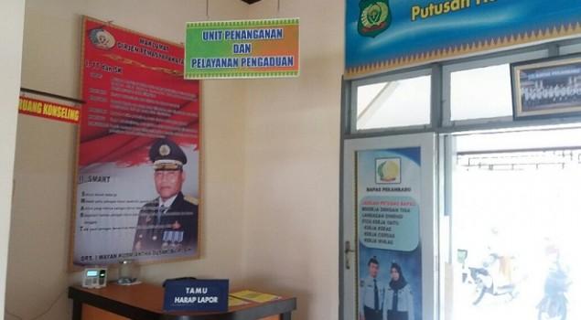 Banner Maklumat Dirjen PAS Kini Terpasang di Bapas Pekanbaru