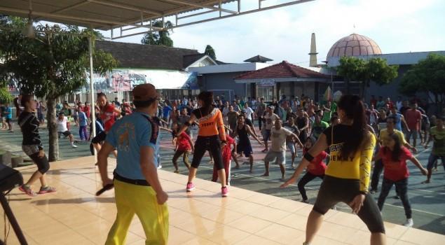 Semangat WBP Ceriakan Aeorobik Bersama di Lapas Narkotika Lubuk Linggau