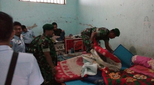 TNI, Polri, BNN dan Satpol PP Geledah Rutan Majene