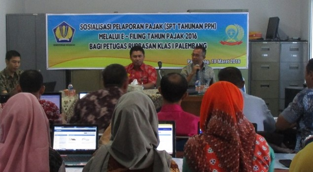 Rupbasan Palembang Laporkan SPT Tahunan secara Online
