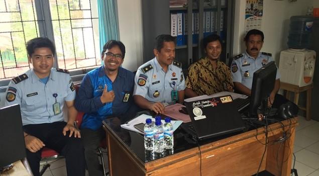 Petugas Rutan Mamuju Dapat Bimbingan Pengisian SPT Online