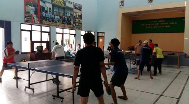 Jelang PORSENAP, Lapas Serang Latihan Bersama PTMSI Banten
