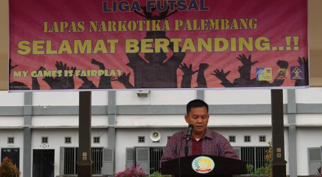 Sambut Hari Bhakti PAS, Lapas Narkotika Palembang Gelar Liga Futsal WBP