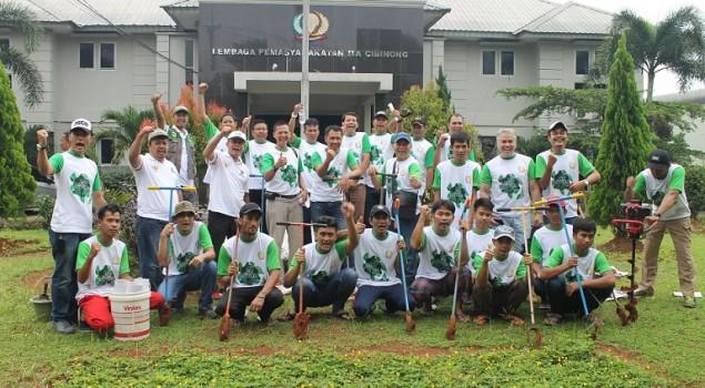 Lapas Cibinong Berpartisipasi dalam Gerakan 50 Juta Lubang Biopori