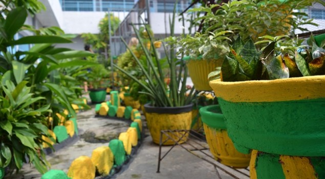 Kreativitas WBP Percantik Taman Lapas Wanita Palembang