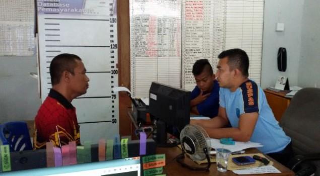 PK Pos Bapas Siak Kumpulkan Data Untuk Pembuatan Litmas ABH