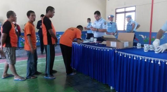 Warga Binaan dan Petugas di Dua Lapas Blitar Dites Urine