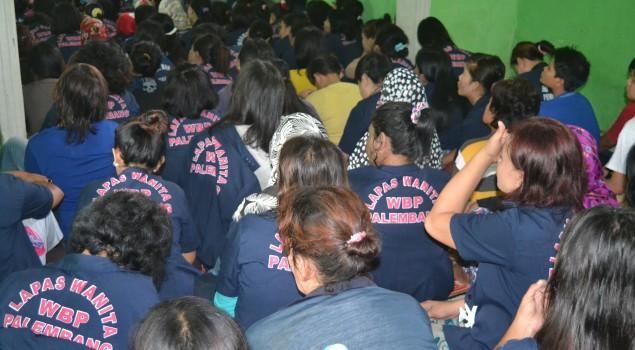 Petugas Dan WBP Lapas Wanita Palembang Ikuti Sosialisasi Pemberantasan Narkoba