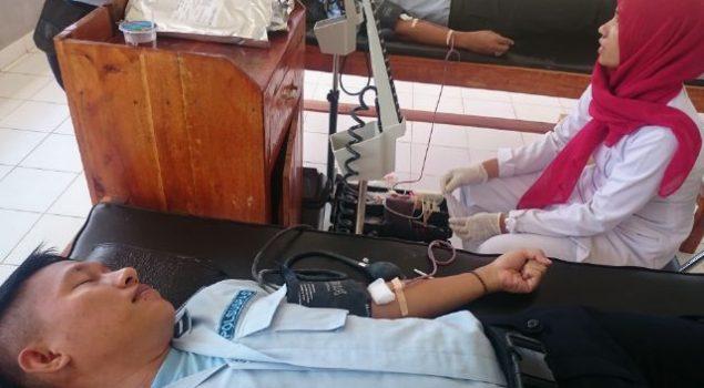 Lapas Banyuasin Kumpulkan 70 Kantong Darah Peringati Hari Pemasyarakatan
