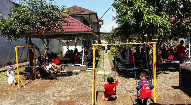 Lapas Narkotika Lubuklinggau Sediakan Taman Bermain untuk Pengunjung Anak
