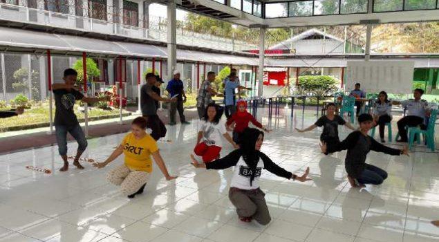 WBP Lapas Narkotika Samarinda Terus Berlatih Untuk Acara Hari Bhakti PAS