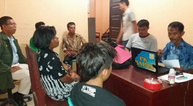 PK Bapas Pekanbaru Dampingi ABH di Polsek Kandis