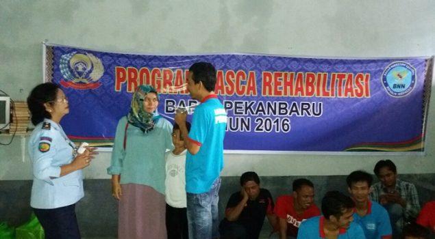 Bapas Pekanbaru Selesaikan Program Pasca Rehab di Lapas Pekanbaru