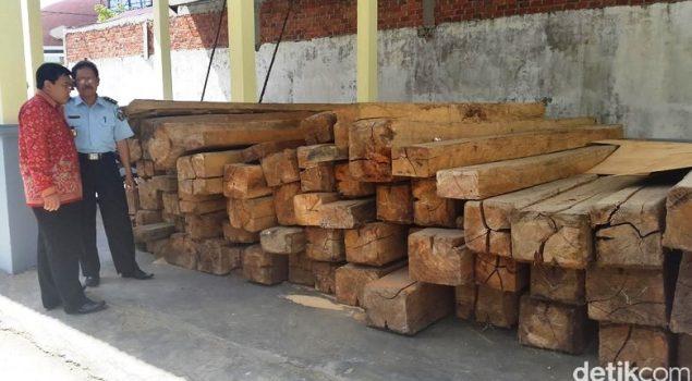 Di Bengkulu, Seribu Ikat Rotan Barang Sitaan Dibiarkan Lapuk