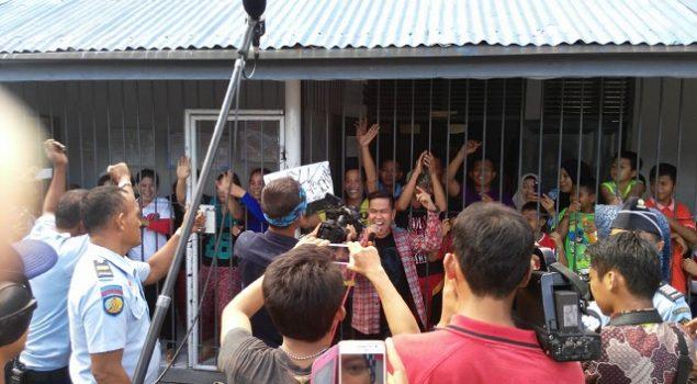 WBP Rutan Majene Dihibur Finalis Dangdut Academy 3