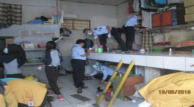 Kemenkumham Kaltim Gelar Razia dan Test Urine di Rutan Samarinda