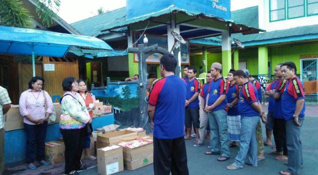 Komunitas Cinta Kota Palu Berbagi Ta'jil kepada WBP Rutan Palu