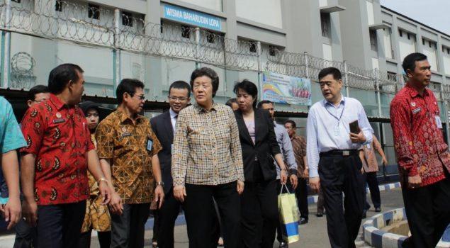 Menteri Kehakiman Tiongkok Melihat Kegiatan Napi Lapas Cipinang