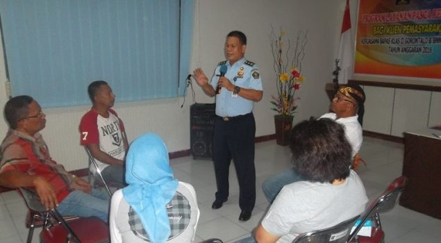 25 Klien Bapas Gorontalo Ikuti Program Layanan Pasca Rehabilitasi