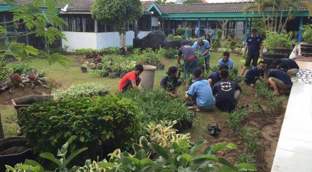 Taman Dipercantik, Rutan Balikpapan Lebih Bersih & Hijau
