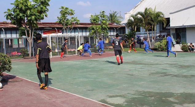 WBP Lapas Cirebon Adu Futsal dengan Tim HSP Pratama