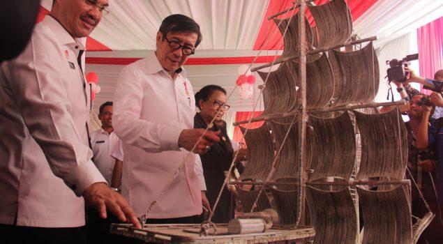 Produk Kreativitas WBP Mejeng di Acara Penyerahan Remisi Umum Nasional