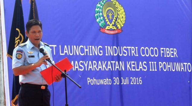 Lapas Pohuwato Resmikan Coco Fiber Industri Pertama Di Gorontalo