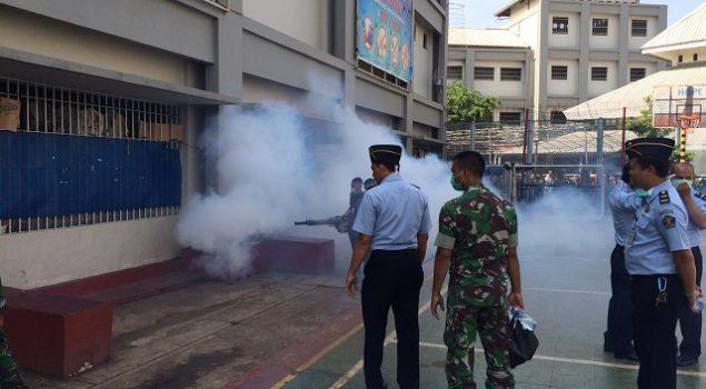 Fogging Cegah Gejala DBD di Rutan Jakarta Pusat