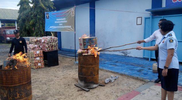 Rupbasan Banjarmasin Bantu Musnahkan Barang Titipan Polda Kalsel