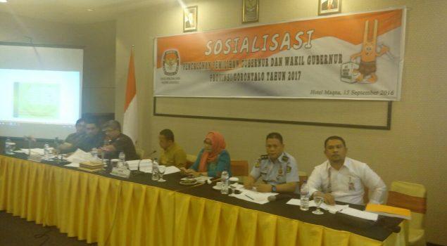 Kabapas Gorontalo Jadi Pemateri Sosialisasi Pilkada Gorontalo