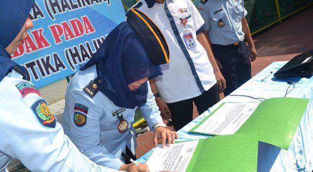 Pegawai Lapas Wanita Palembang Deklarasikan Maklumat Pelayanan