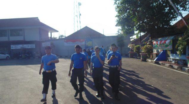Jaga Kondisi Fisik, Petugas Rutan Purbalingga Jogging Bersama