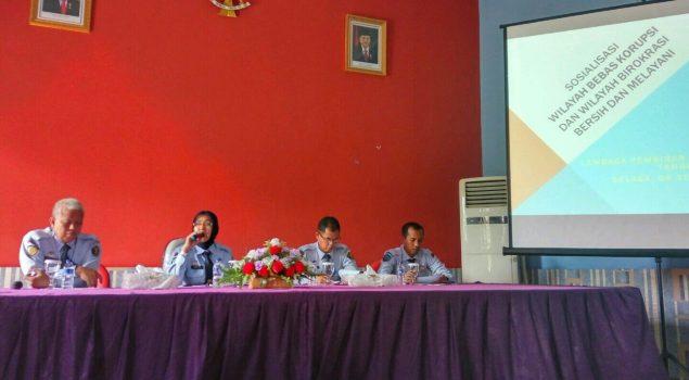 Kepala LPKA Tangerang Sosialisasikan WBK dan WBBM Kepada Jajarannya