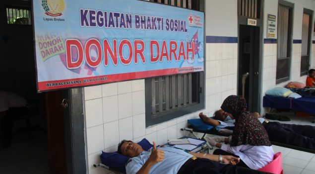 Peringati Hari Dharma Karyadika, Lapas Berebes Laksanakan Kegiatan Donor Darah