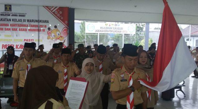 Youth Pledge Camp Lapas Warungkiara Diisi Materi Kepramukaan & Wawasan Kebangsaan