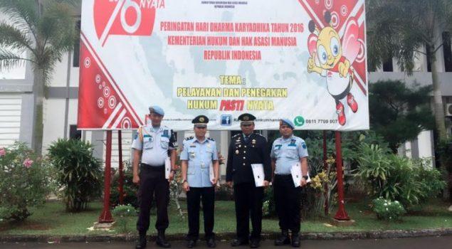 Empat Petugas Rutan Batam Peroleh Penghargaan
