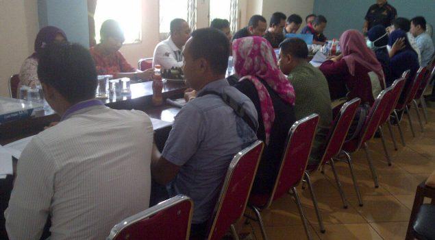 Peserta Pelatihan Assessment Praktik Wawancara WBP di Rutan Rangkasbitung
