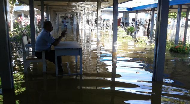 Sungai Meluap, Rutan Barabai Terendam Banjir