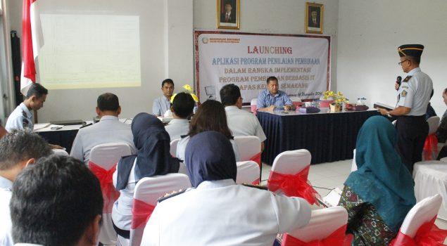 Lapas Semarang Luncurkan Aplikasi Program Penilaian Berbasis IT