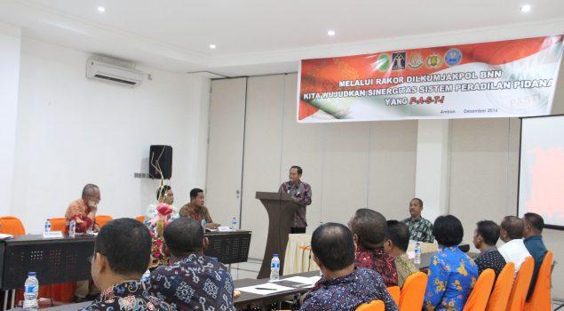 Dilkumjakpol Maluku Bahas Permasalahan Antar Penegak Hukum