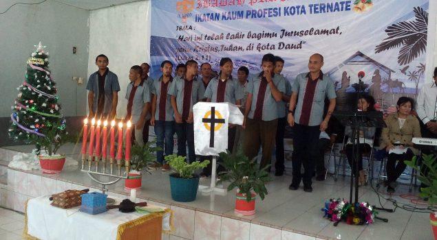 WBP Rayakan Ibadah Pra Natal Bersama Kaum Profesi Ternate
